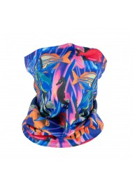 reef fish print colorful neck gaiter mask