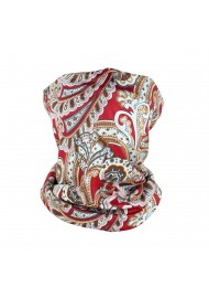 Red and Gold Paisley Print...