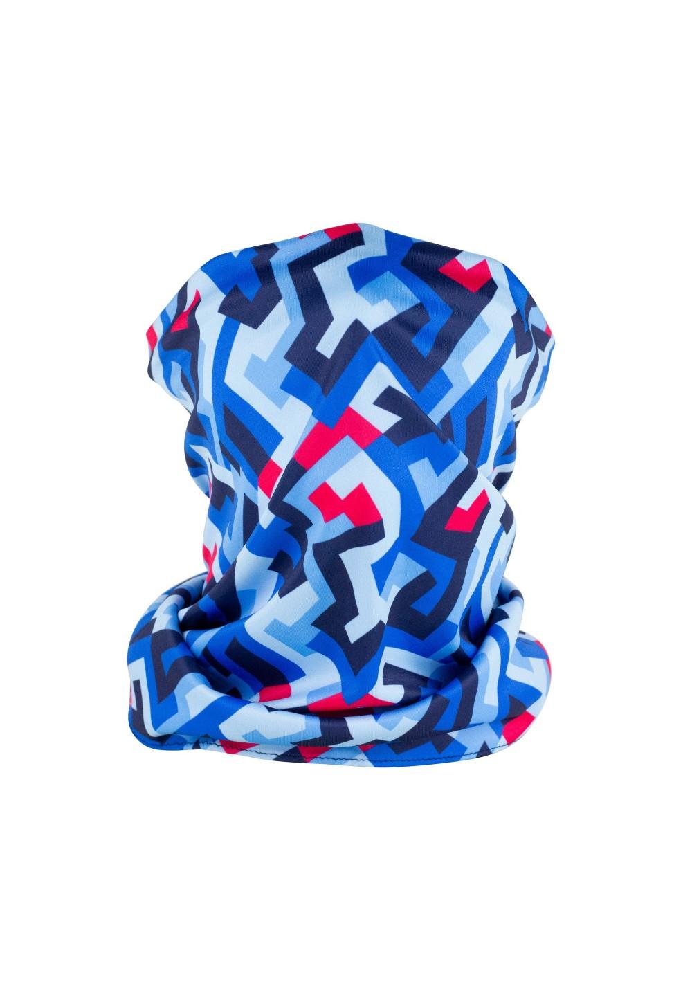 abstract print graphic design neck gaiter