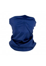 navy basketweave print neck gaiter mask