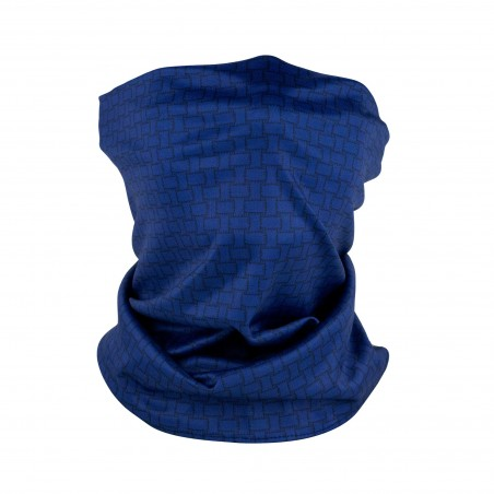 navy basketweave print neck gaiter mask