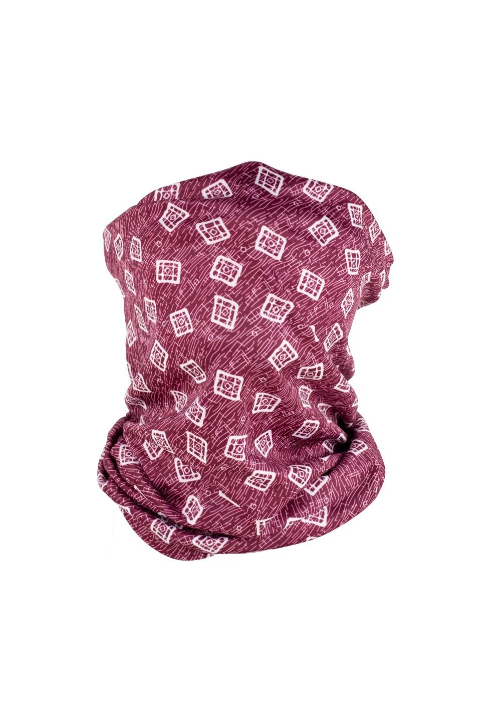 maroon red neck gaiter scarf