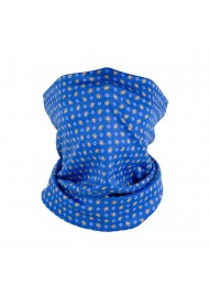 blue and orange paisley neck gaiter