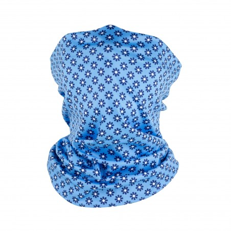 french blue flower design neck gaiter mask