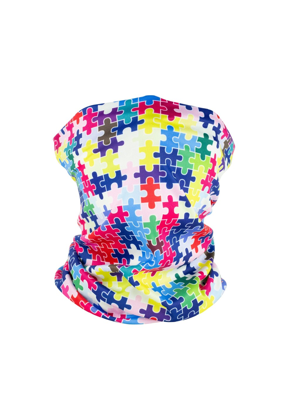 puzzle autism neck scarf gaiter face covering mask