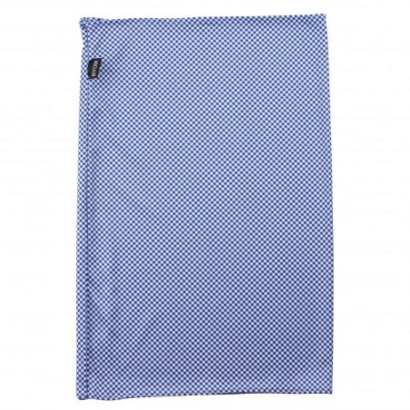 gaiter scarf checks light blue