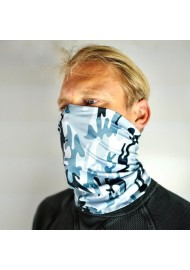 camo gaiter scarf gray white