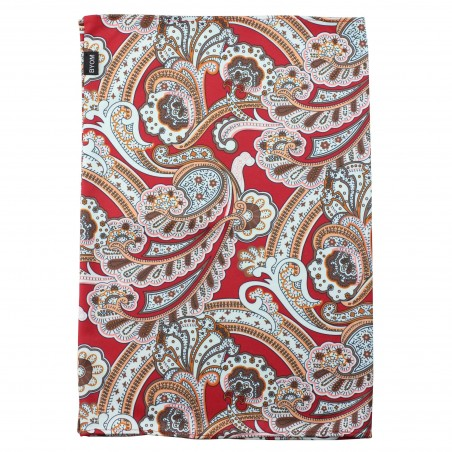 paisley gaiter in red and golds