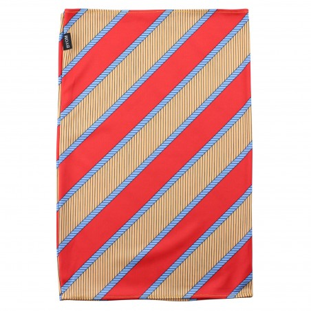 gold and coral red neck gaiter stripes