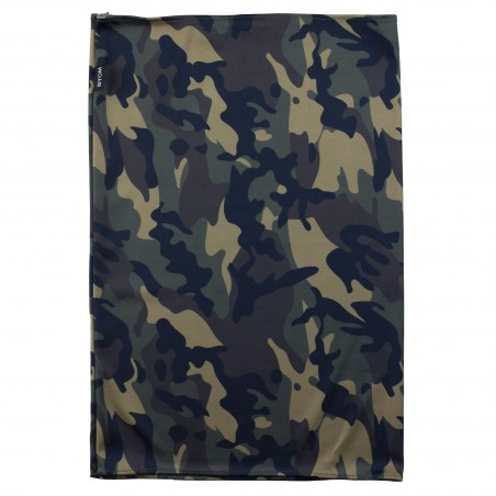 camouflage print gaiter in olive green