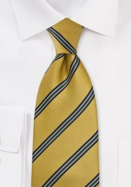 British Extra Long Tie in Collegiate Gold