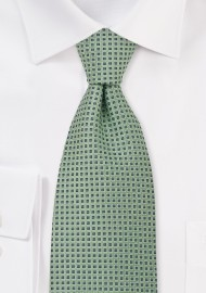 Tea Green Silk Necktie