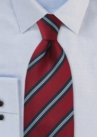 Classic Regimental Striped Kids Tie