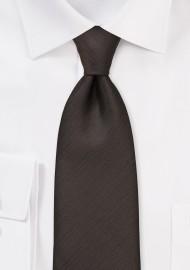 Textured Tie in Dark Brown