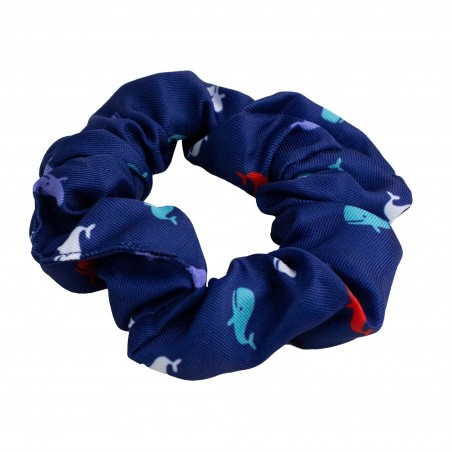 scrunchie with whales