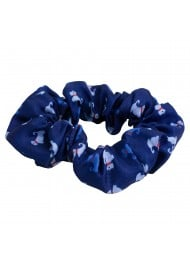 terrier dog print scrunchie