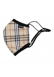 tan burberry plaid kids tartan face mask in cotton
