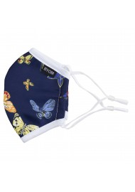 butterfly print face mask for kids washable with filter