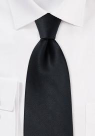 Solid Black Silk Necktie for Kids