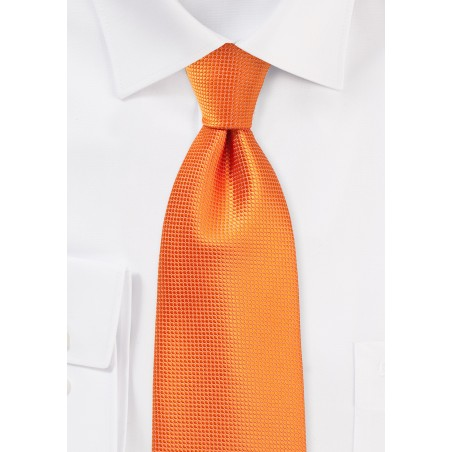 Kids Tie in Bright Nectarine