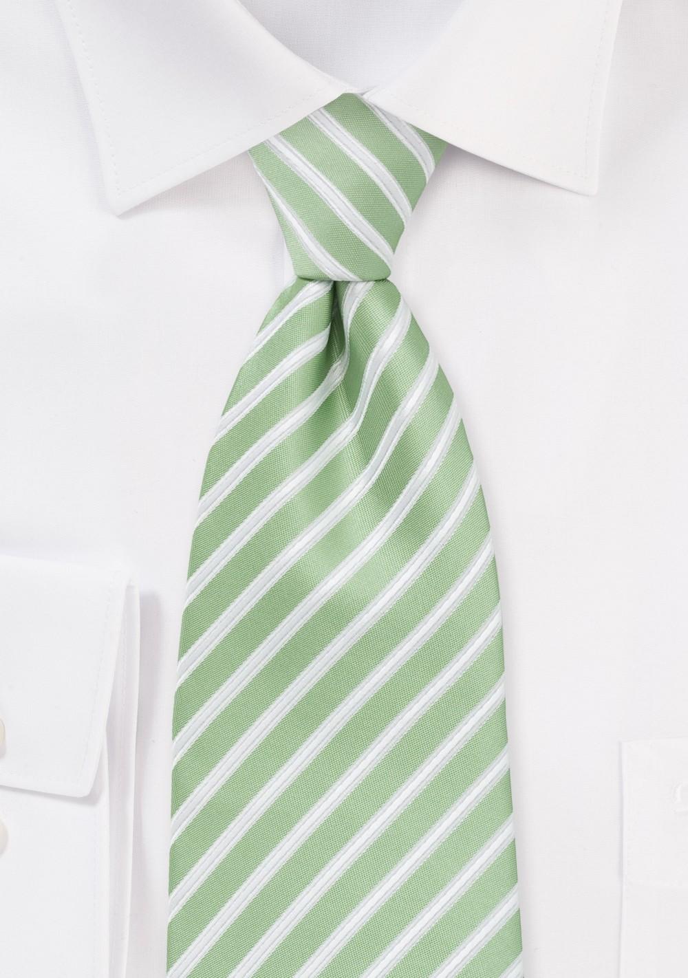Seafoam Green Striped Tie