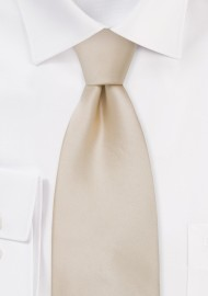 Solid XL Necktie in Champagne