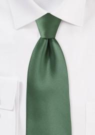 Olive Color Tie for Kids