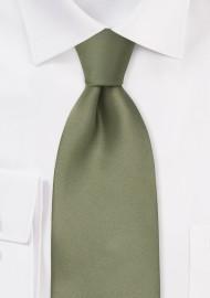 Dark Sage Green Kids Silk Tie