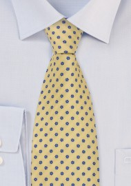 Lemon Yellow Silk Tie by Chevalier