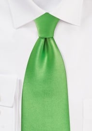 Bright Kelly Green Kids Length Tie