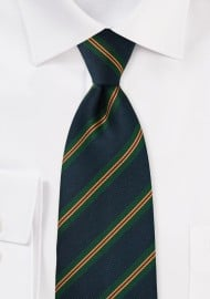 Repp Striped Kids Tie in Dark Navy