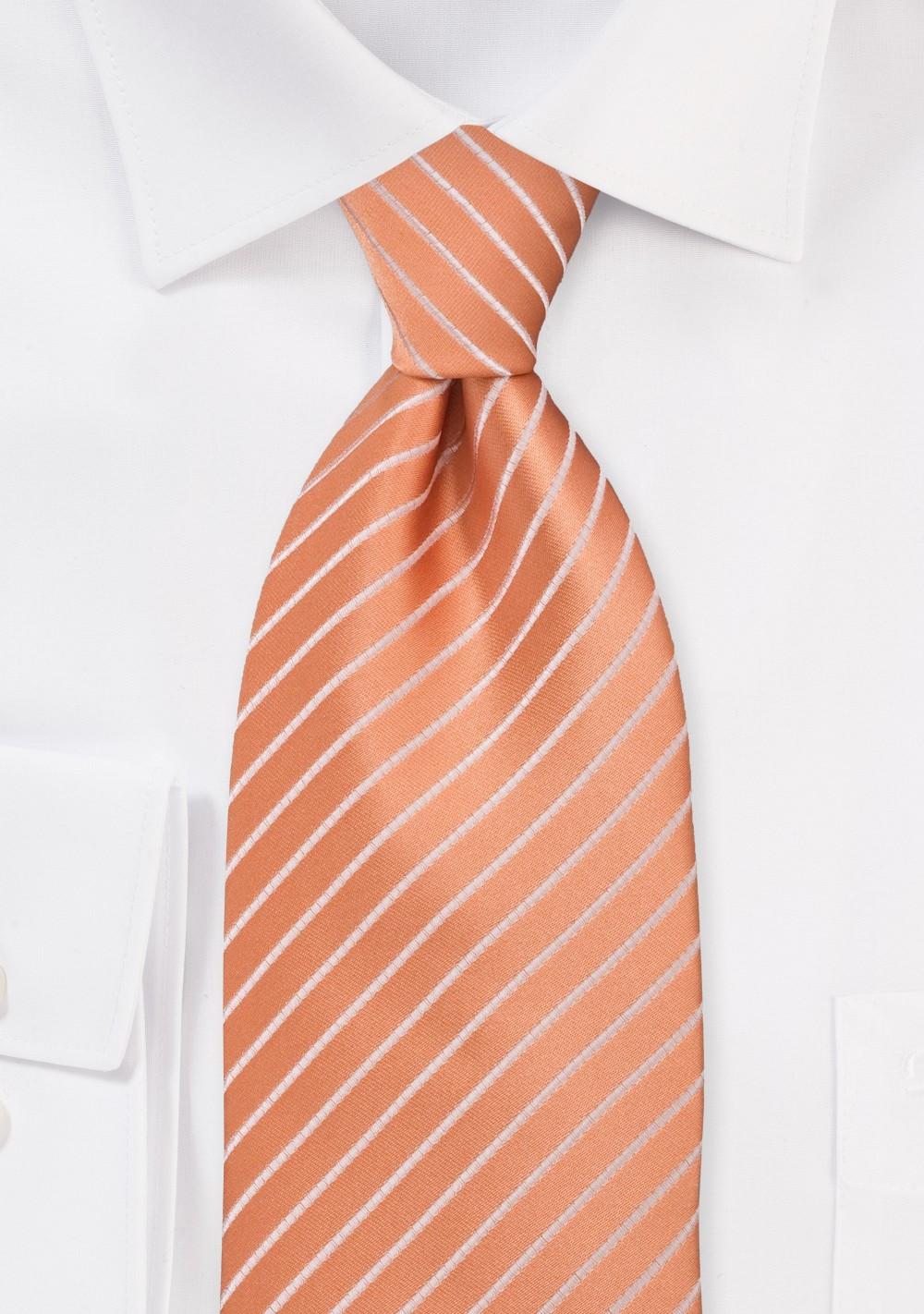 Bright Peach Orange Kids Sized Necktie