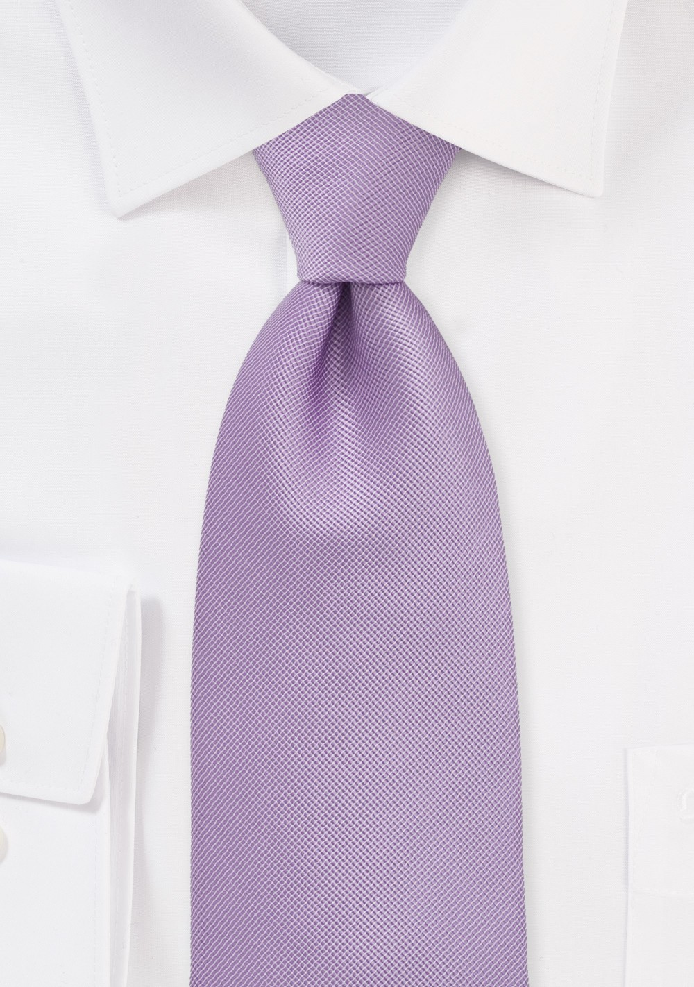 XL Sized Textured Tie in Vintage Lilac