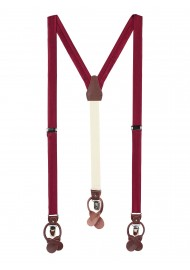 Mens Suspenders in Classic Burgundy