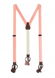 Solid Peach Pink Suspenders
