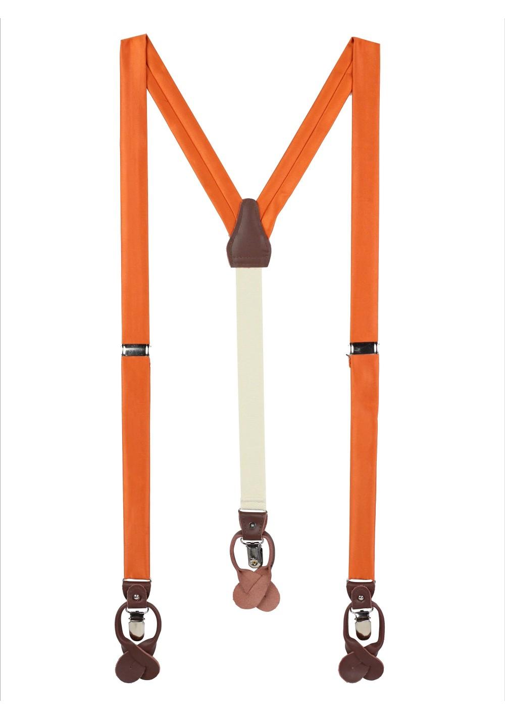Persimmon Orange Fabric Suspenders