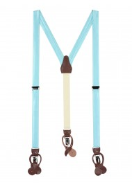 Light Pool Blue Fabric Suspenders