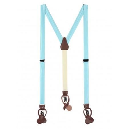 Light Pool Blue Fabric Suspenders