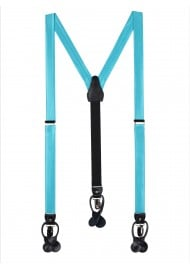 Bright Aqua Blue Suspenders