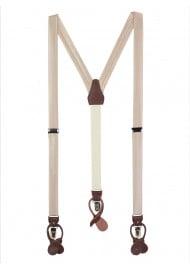 Classic Champagne Satin Fabric Suspenders