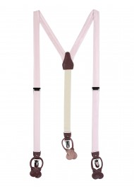 Soft Blush Wedding Suspenders