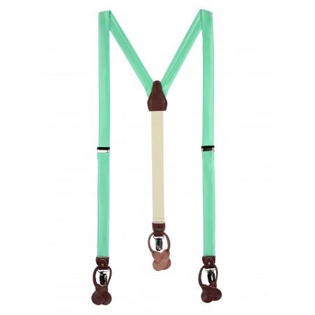 Bright Mint Green Summer Suspenders