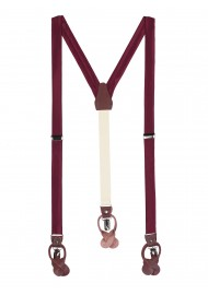 Wine Red Mens Suspenders