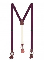 Plum Purple Mens Suspenders