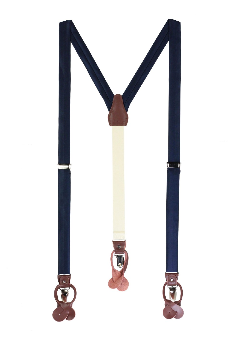 Dark Navy Fabric Suspenders