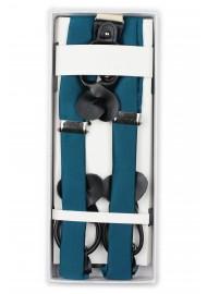 Dark Teal Blue Dress Suspenders in Box