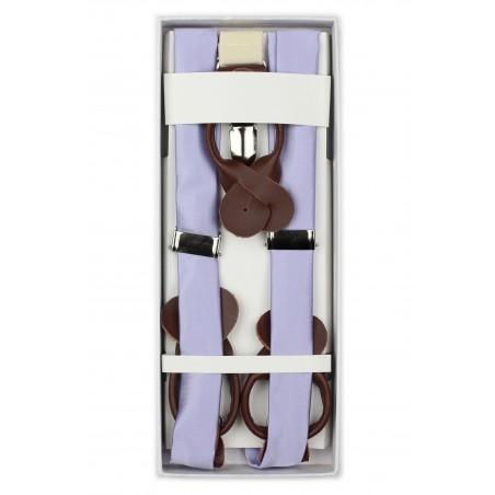 Elegant Summer Suspenders in Lavender in Box