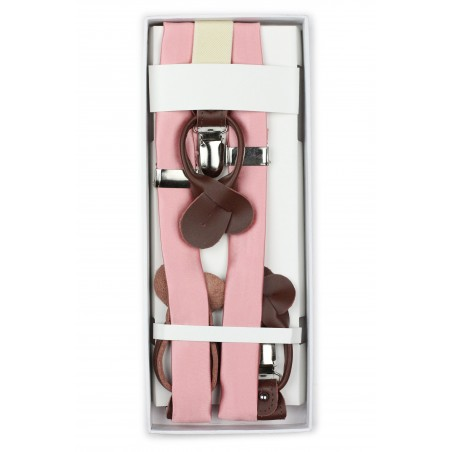 Petal Pink Fabric Suspenders in Box