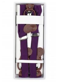 Bright Purple Mens Suspenders in Box