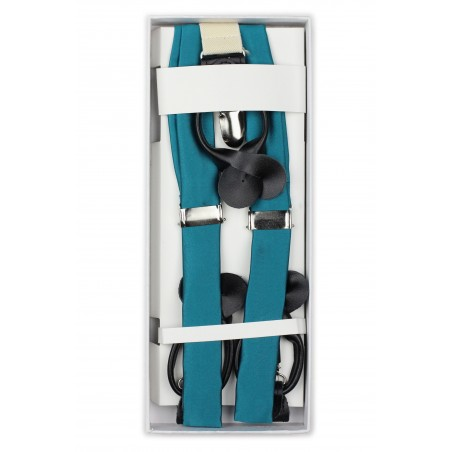 Oasis Hued Fabric Suspenders in Box
